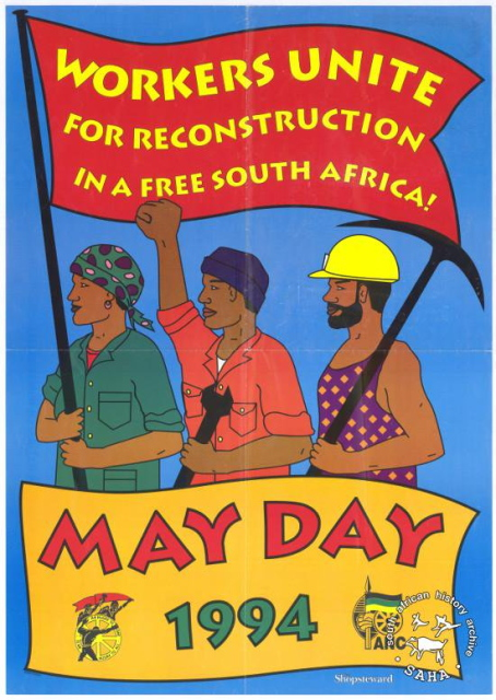 South African May Day poster, 1994