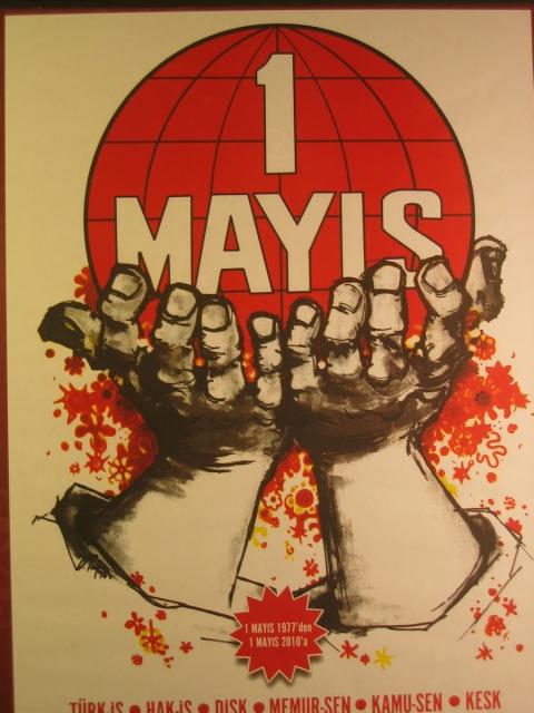 Turkish Trade Union May Day 2010 - commemorating 1977 Taksim massacre