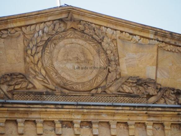 Vandalised Soviet Emblem - Tbilisi