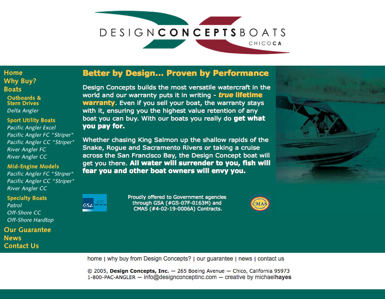 Design Concepts Boats web