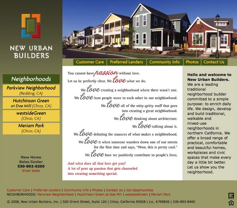 New Urban Builders web