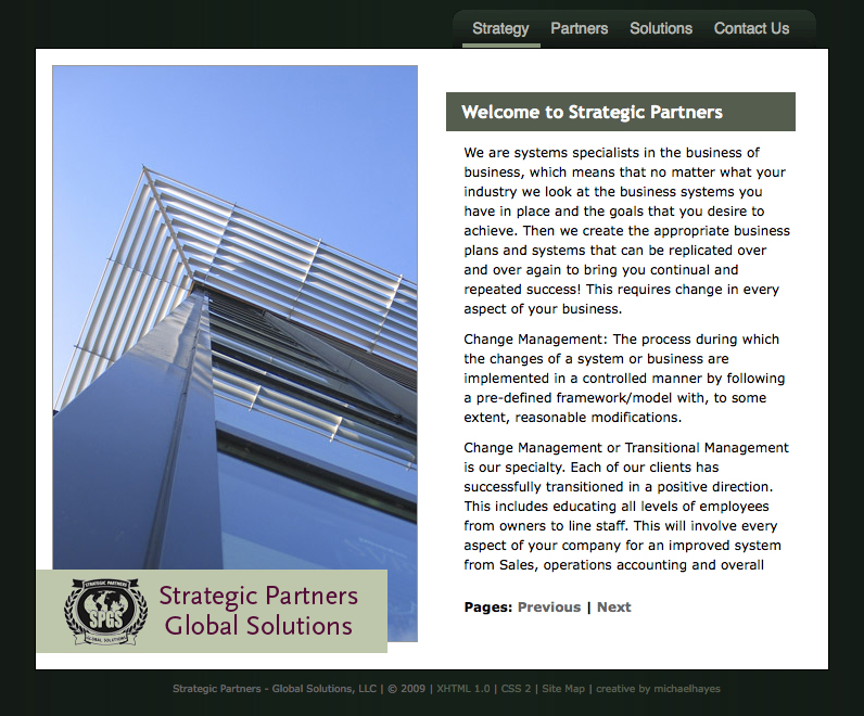 Strategic Partners, Global Solutions web