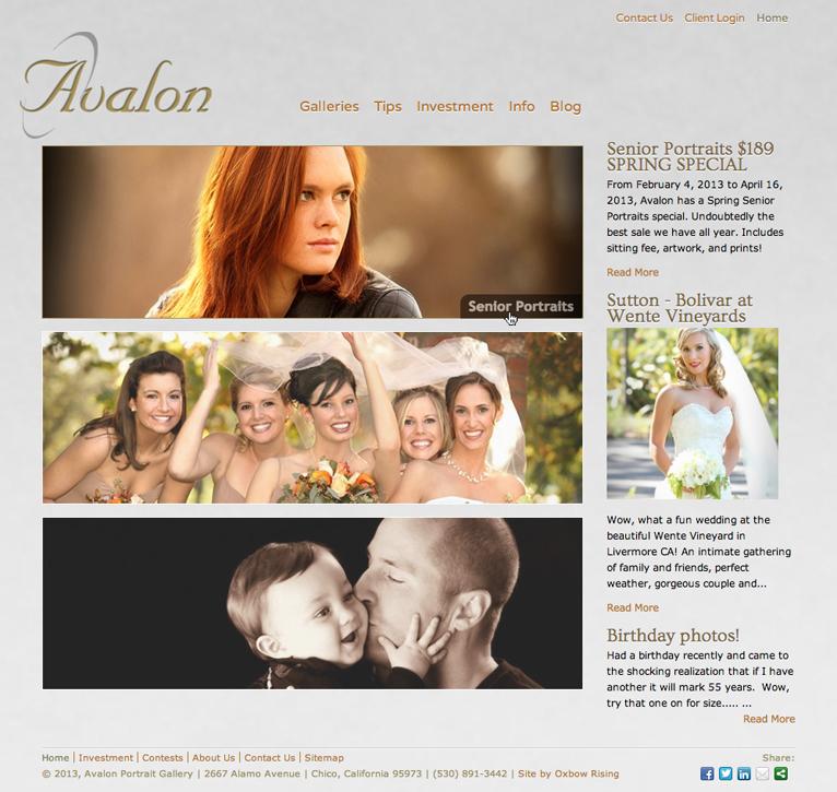 Avalon Portraits web