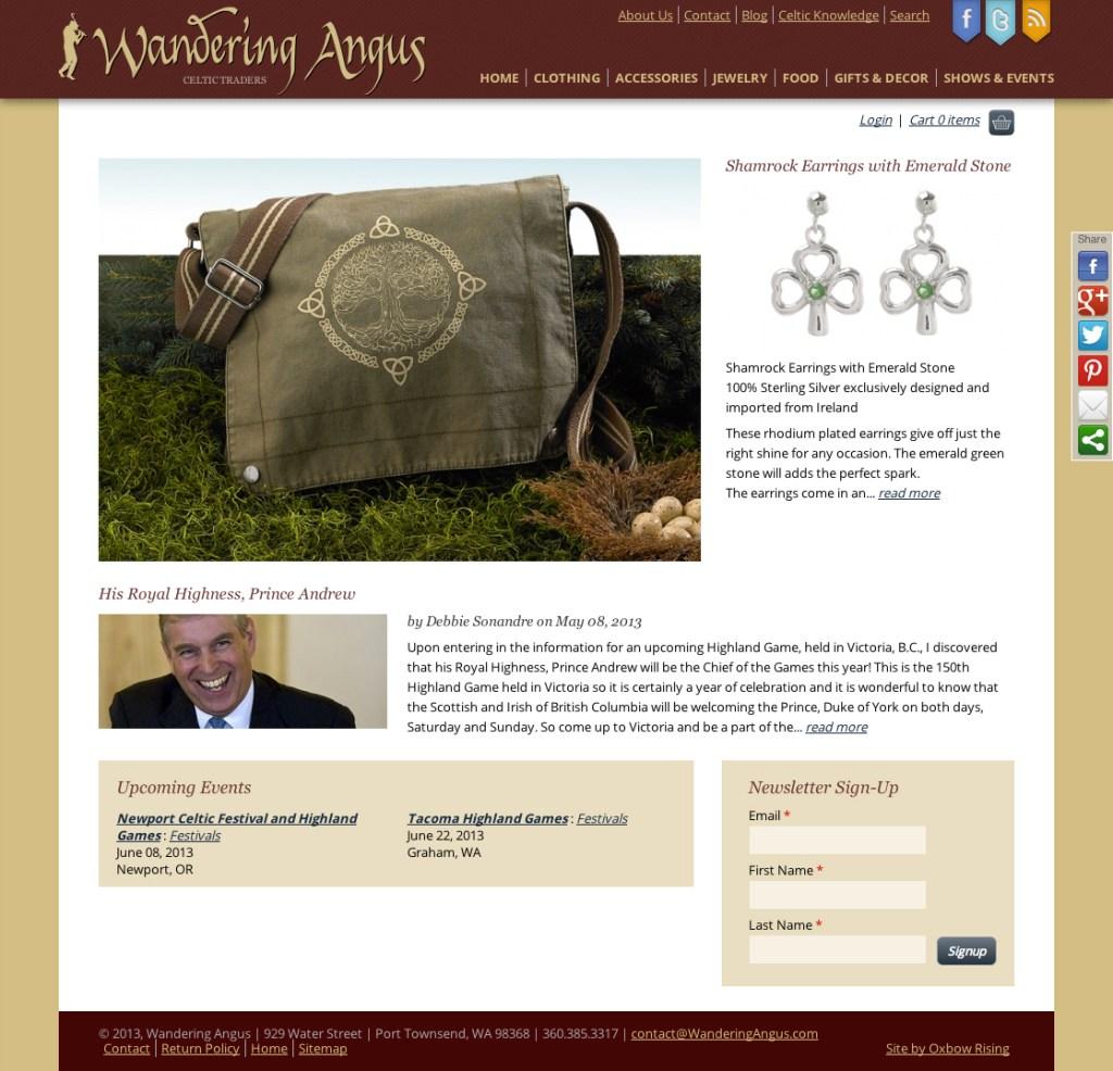 Wandering Angus web