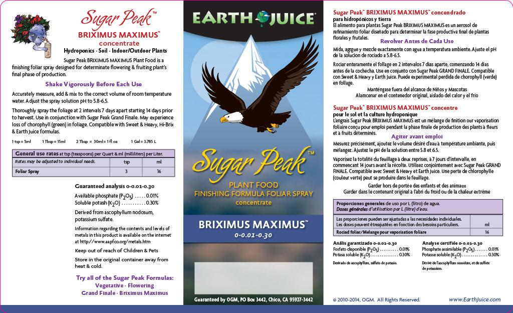 SugarPeak label