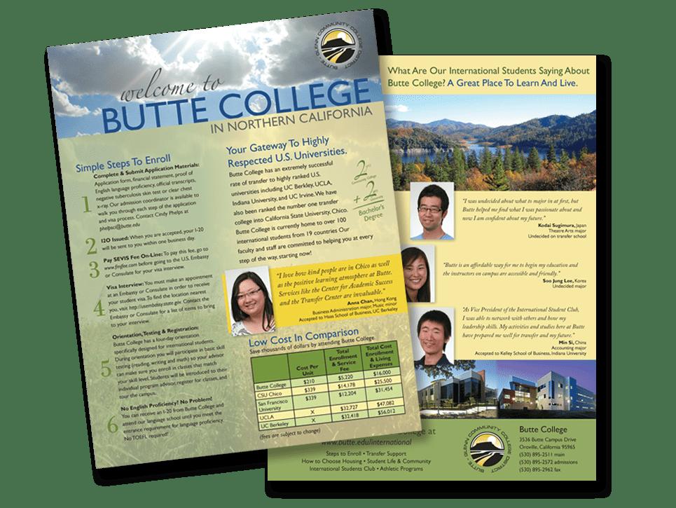 Butte College brochure