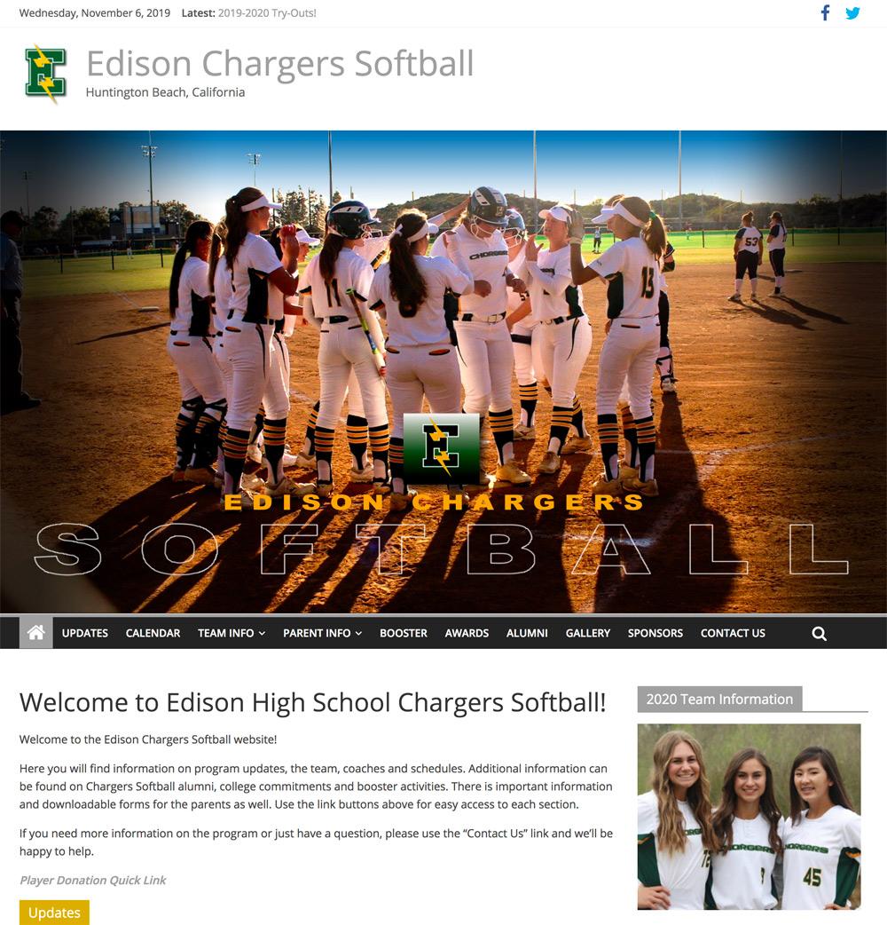 Edison High School Softball