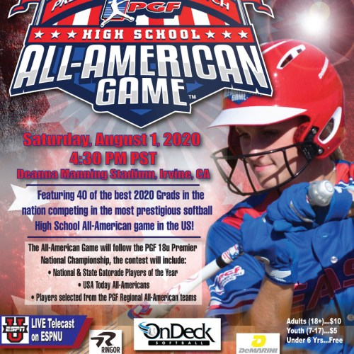 Premier Girls Fastpitch Softball All American Game Michael Hecht Design