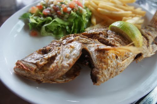 Fried Fish at Sea Food Piñuelas