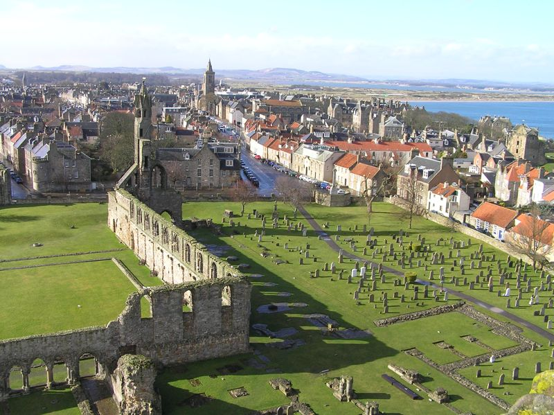 St. Andrews from above.