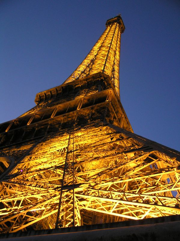 Looking up Eiffel.