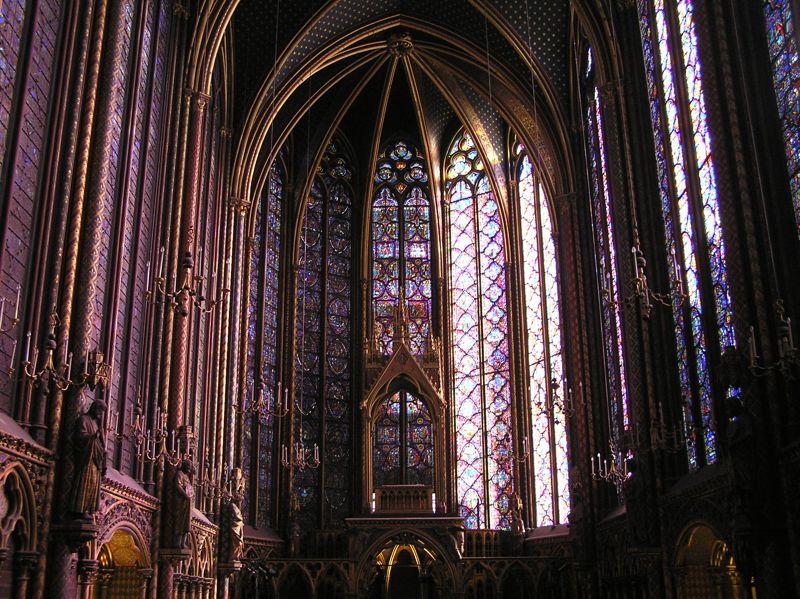 Sainte Chapelle in Paris.