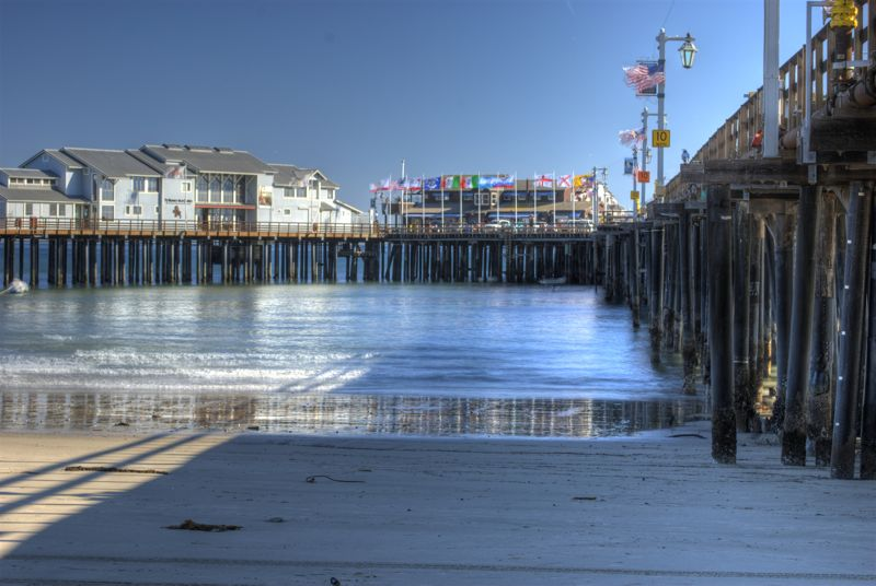 An HDR shot of the Santa Barbara Dock.