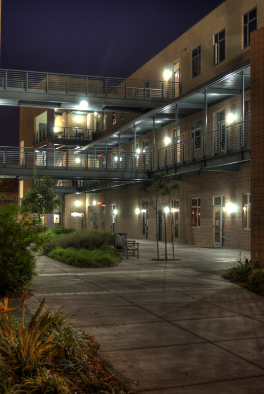UCSB's Psychology East building, this HDR photo was made from 9 RAW files.
