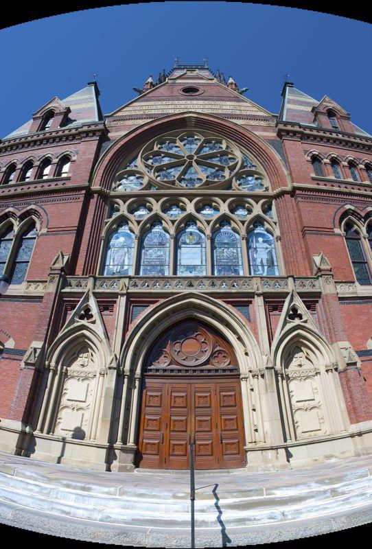 Harvard, a composite of three handheld shots.