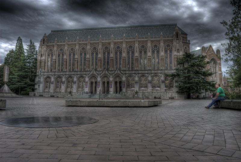 This photo proves the library is haunted, just look at all those ghosts!