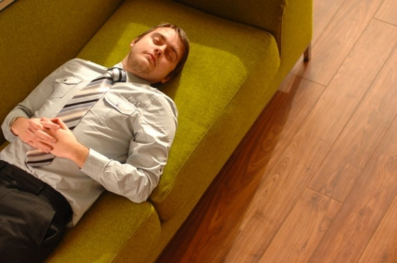 A Businessman Taking a Power Nap -Photo courtesy of ©iStockphoto.com/sturti, Image #5552350