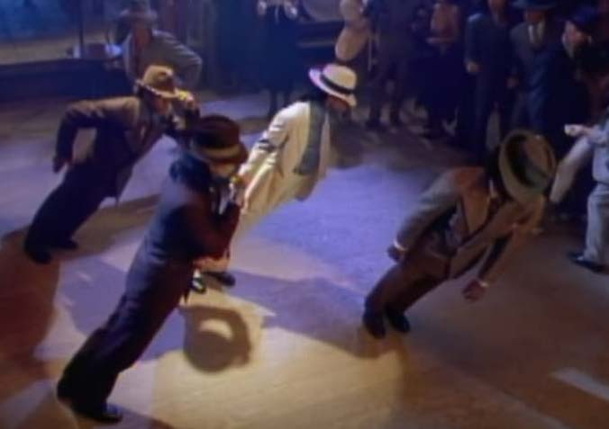 "Figure-17 ""Smooth Criminal"" screen shot the lean"