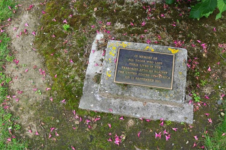 9/11 memorial plaque, Cambridge New Zealand