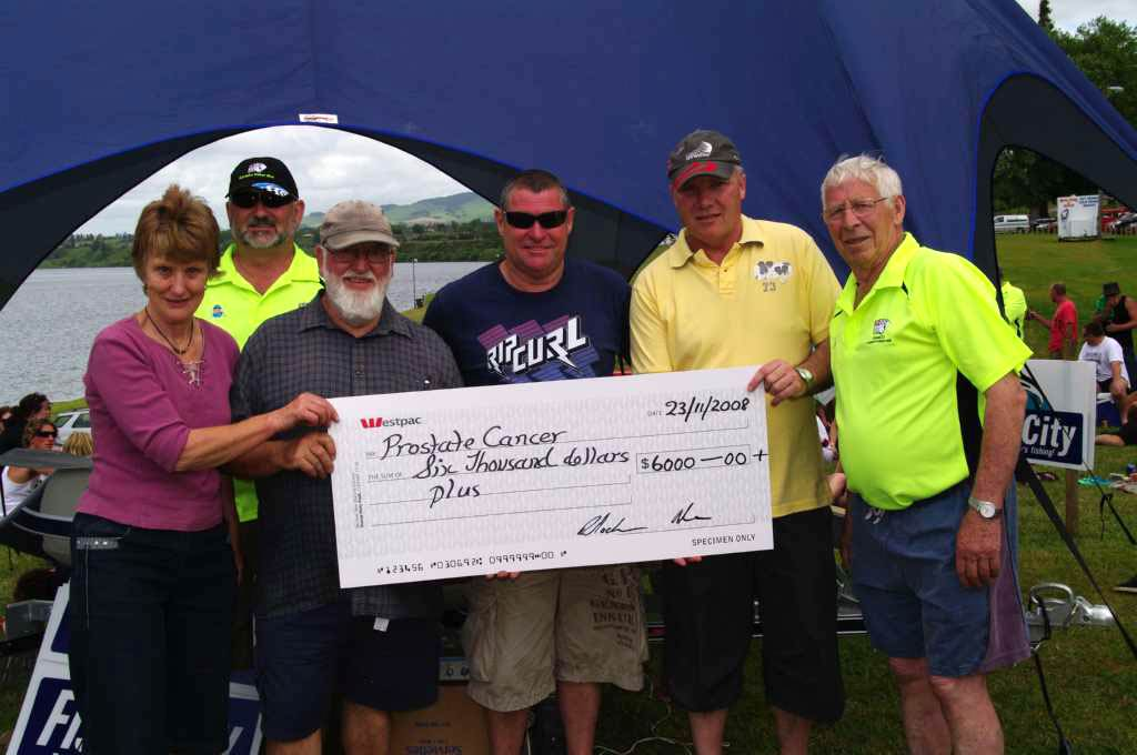 $6000.00 cheque for Prostate Cancer Foundation of New Zealand