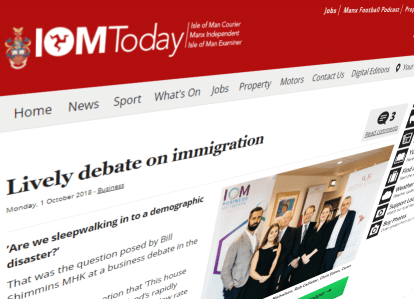 Lively debate on immigration