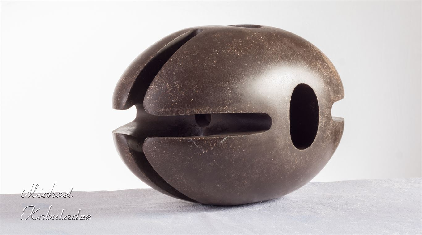 Abstract  hollow sculpture with ball