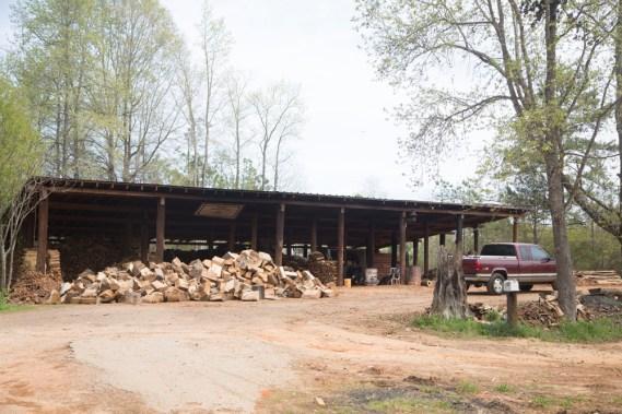 Kinard wood shed.