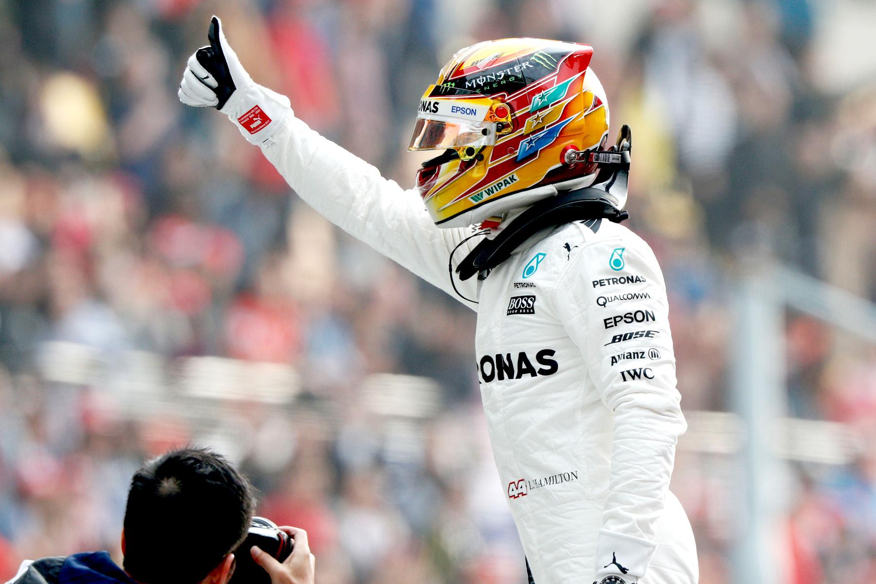Lewis Hamilton cruises to Chinese win