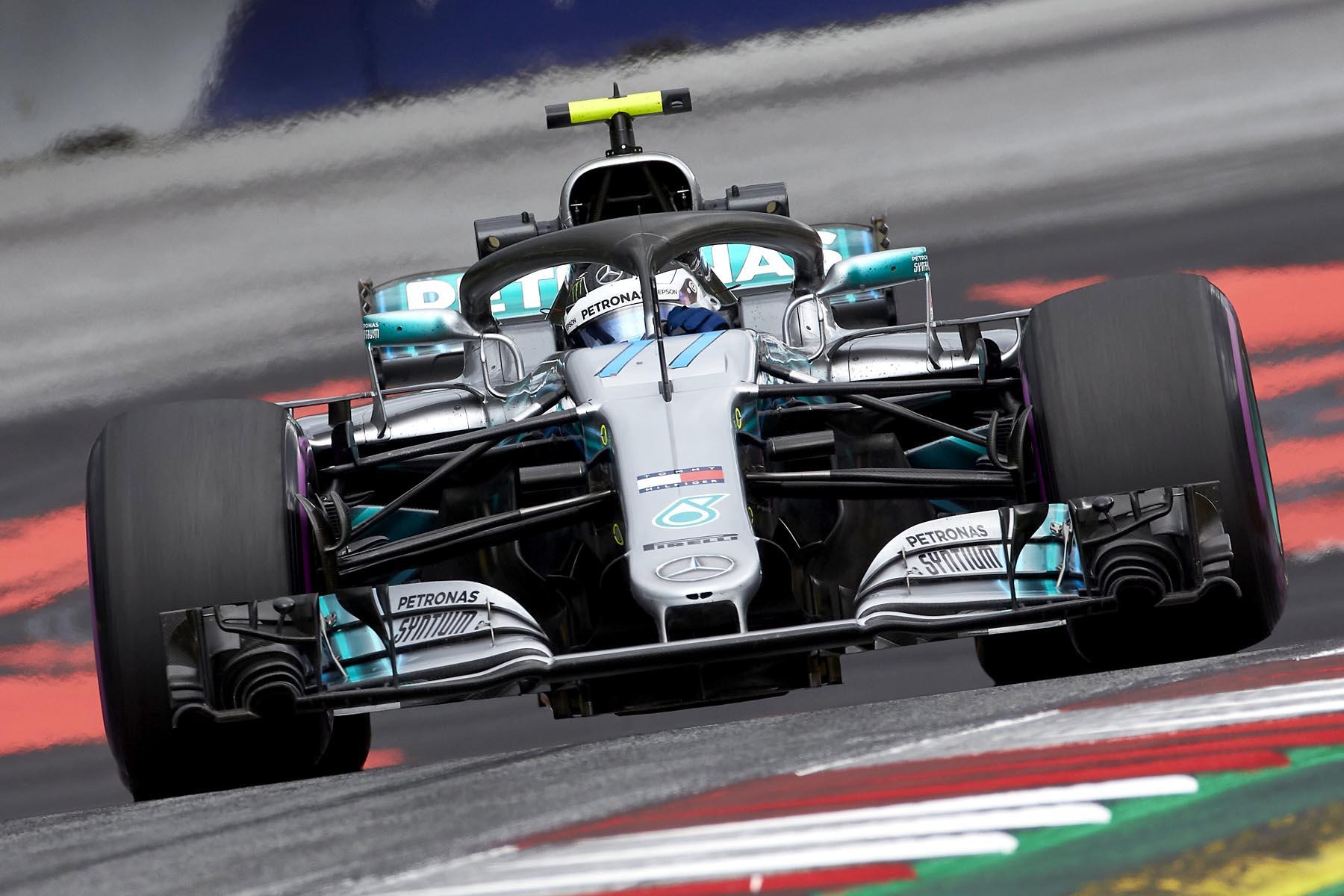 Valtteri Bottas on track at the 2018 Austrian Grand Prix.