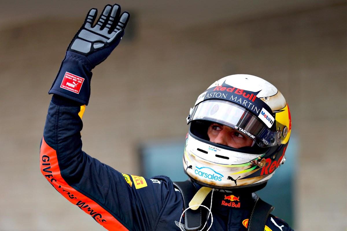 Daniel Ricciardo post-qualifying at the 2018 United States Grand Prix.