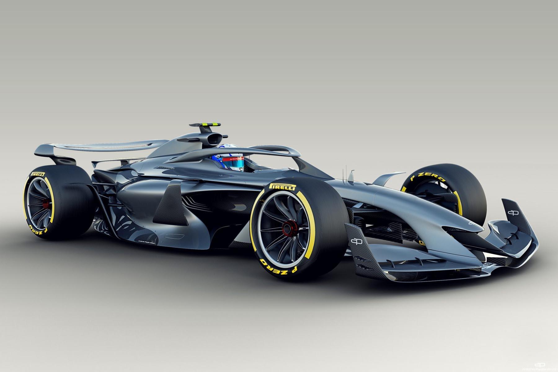 A concept 2021 F1 car.