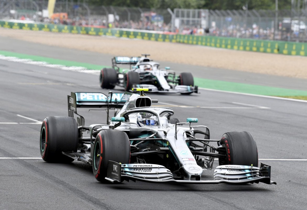 Valtteri Bottas on track for practice at the 2018 British Grand Prix.