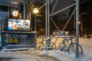 Snowy Bicycles