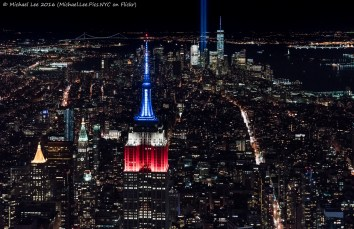 View from Empire State Building to Lower Manhattan