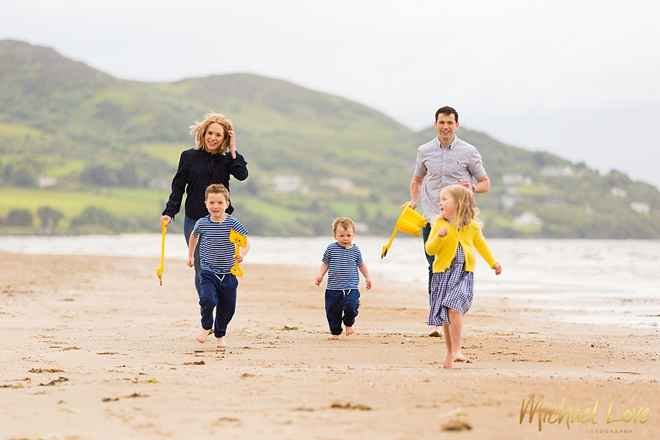Family photos on the beach - Buncrana, Donegal