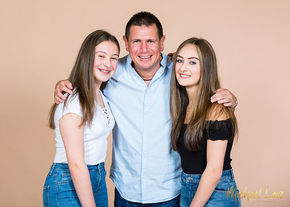 Dad with his daughters