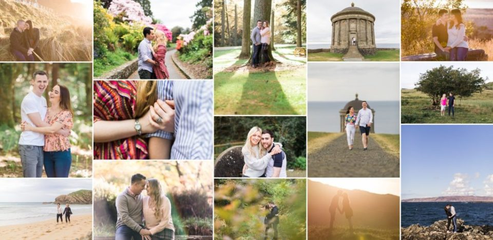 Engagement photos montage