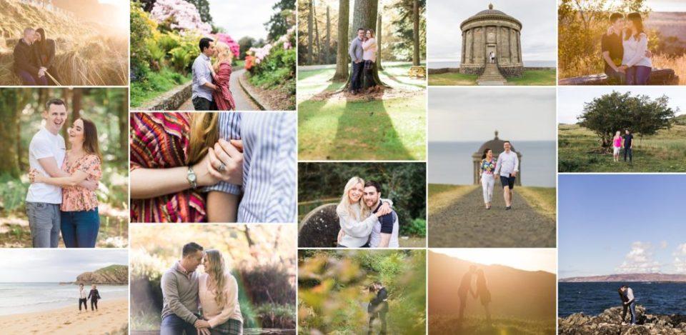 Engagement photos montage