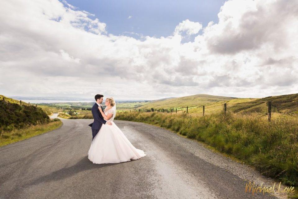 Wedding couple in Irish countryside