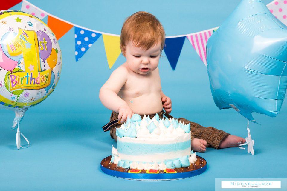 Cake Smash Photos Derry - Sam's 1st Birthday