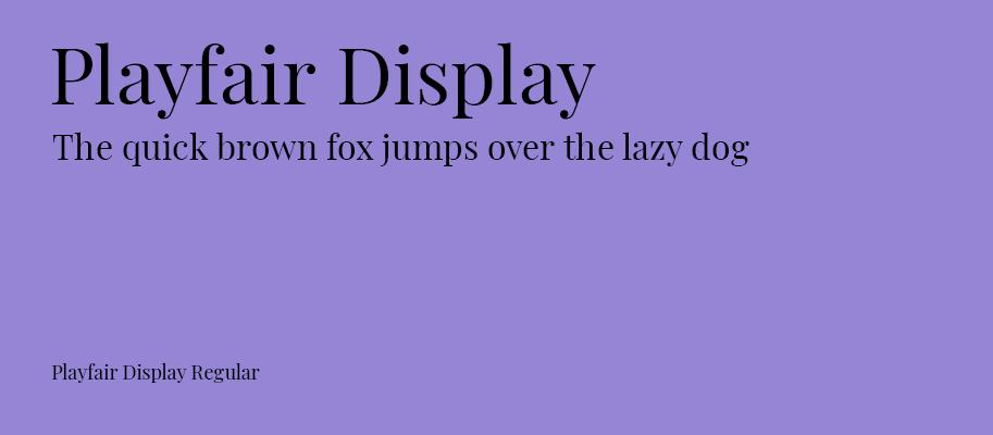 Playfair Display - Michael Lutjen