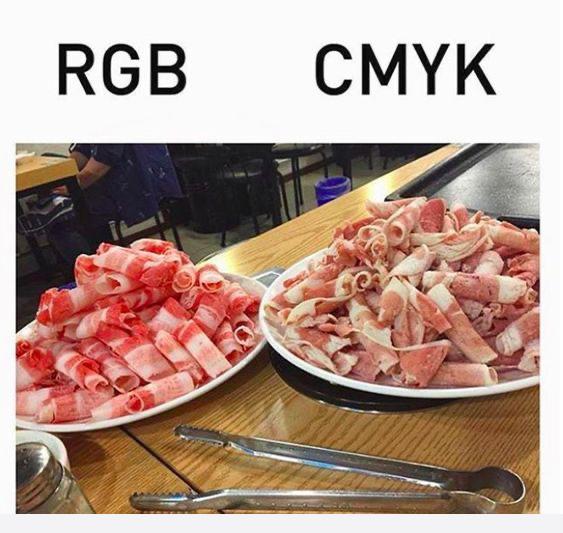 CMYK v RGB