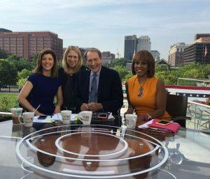 L at DNC w: CBS This Morning News team July 28 2016