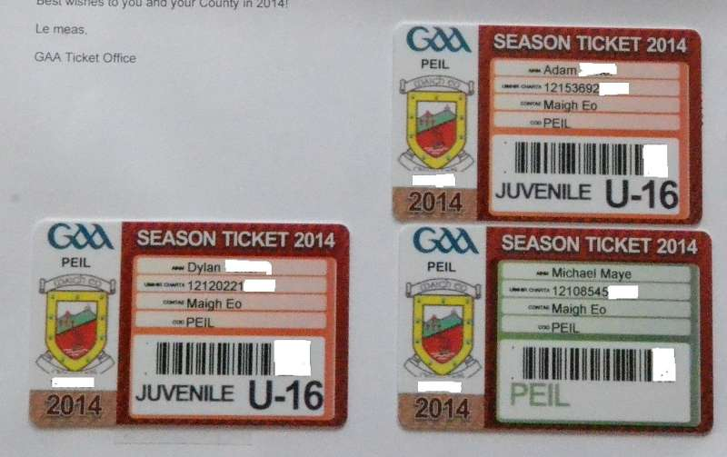 Season tickets 2014