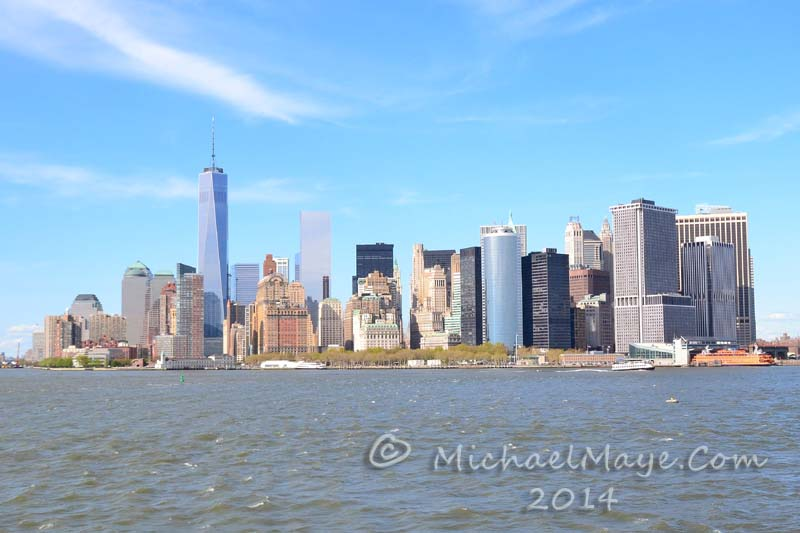 Lower Manhattan skyline.