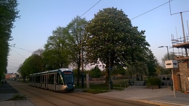 WP_20160512_20_06_20_Pro aa0449h tram passes Blackstone Walk