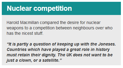 A very British Deterrent bbc 2 tv Macmillan quote nuclear competition ab0227h
