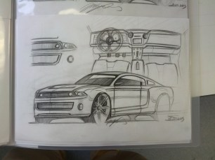 Mustang Sketch plus Interior