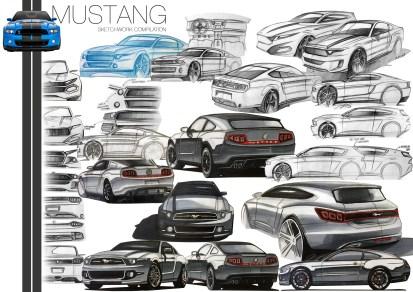 Mustang Sketch Compilation