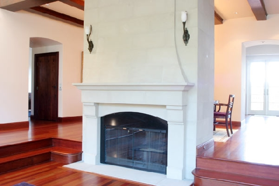 Refinished fireplace